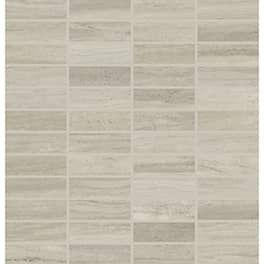 Lvl 3 Articulo Column Grey 1x3 Straight Joint Mosaic Daltile Master Bath Remodel Porcelain Flooring
