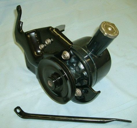1965 Convertible Mustang Restoration Ford Factory Power Steering pump with brackets to fit 6 cylinder Mustang 1965