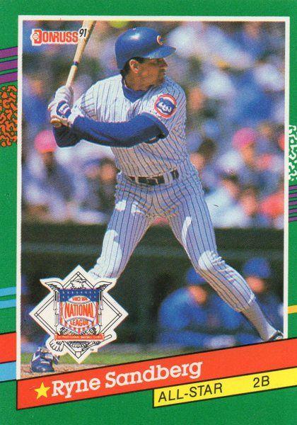 1991 Donruss Baseball Card National League Ryne Sandberg Baseball Cards Ryne Sandberg Chicago Cubs History