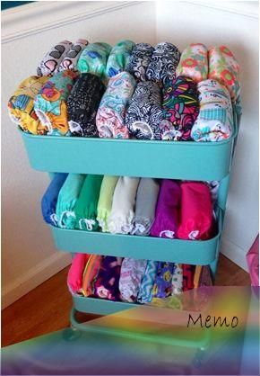 Nursery Storage Is A Challenge And It S Even More Challenging When You Add Cloth Diapering In Th In 2020 Baby Clothes Storage Cloth Diaper Storage Diaper Organization