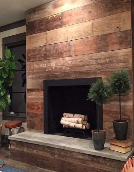Set Sail To Your Summer Cottage With Shiplap Wood Fireplace