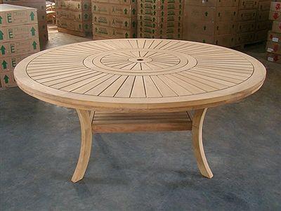 Round Dining Table Teak, Round Teak Outdoor Table