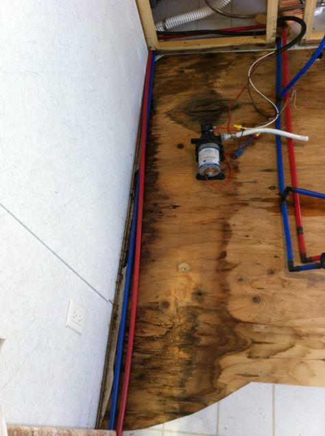 Rv Net Open Roads Forum Travel Trailers Floor Repair Help Needed Vintage Camper Remodel Camper Decor Camper Flooring