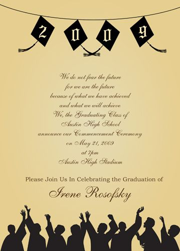 Free Graduation Templates Downloads FREE Wedding Invitation - Sample graduation party invitation