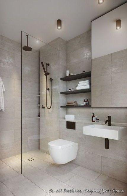 Small Bathroom That Inspired To Your Space Bacayux In 2021 Minimalist Bathroom Design Washroom Design Bathroom Interior Design