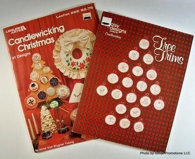 "A ""lot"" of 2 candlewicking craflt leaflets on ebay. $7.95"