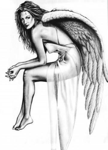 Nude female angel drawings — img 6