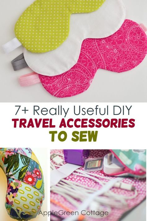 Really Useful Diy Travel Accessories to Sew - AppleGreen Cottage Diy travel . - Really Useful Diy Travel Accessories to Sew – AppleGreen Cottage Diy travel accessories – H - Travel Accessories For Men, Diy Accessories, Leather Accessories, Bag Essentials, Costura Diy, Diy Inspiration, Diy Couture, Easy Sewing Projects, Diy Projects