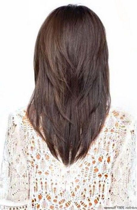 Lange Haare Stufenschnitt Hinten Cabello In 2019 Schnitt Lange