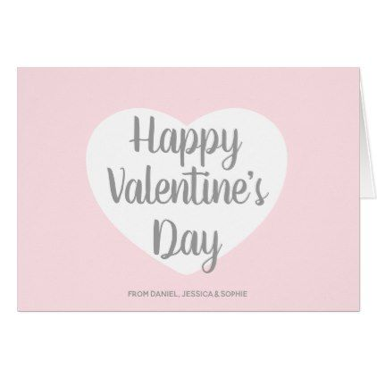Pink Happy Valentine S Day Script Holiday Card Zazzle Com Happy Valentine Holiday Design Card Happy Valentines Day