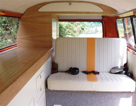 Gallery of VW Camper Vans -- love the light colours doesn't feel as dark