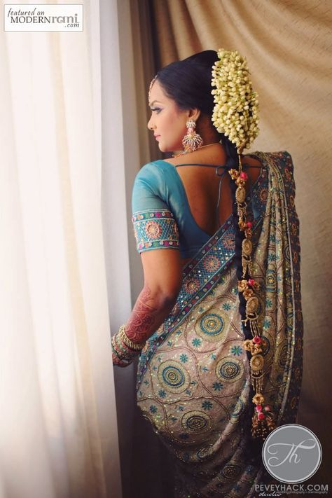 south indian bride hair style