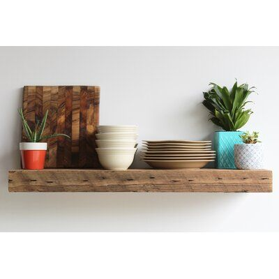 Loon Peak Bugbee Chunky Deep Floating Shelf Floating Shelves Solid Wood Shelves Wood Floating Shelves