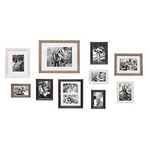 10 Piece Wood Frame Set Country Farmhouse Decor Shop Gallery Wall Kit Picture Frame Gallery Gallery Wall