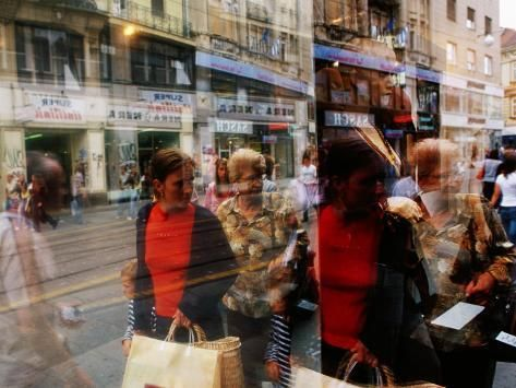 Pedestrians Reflected In Shop Window Ilica St Zagreb Croatia Photographic Print Richard I Anson Art Com Window Photography Window Reflection Reflection Photography