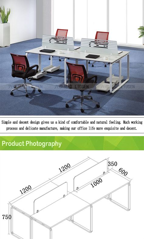 China Manufacturer White Modern Cubicle Office Partitions 3 Person