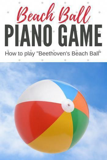 All you need is a beach ball and a sharpie to play this awesome piano game with any level of student! #PianoGame #PianoLessons #PianoTeaching #SummerPiano