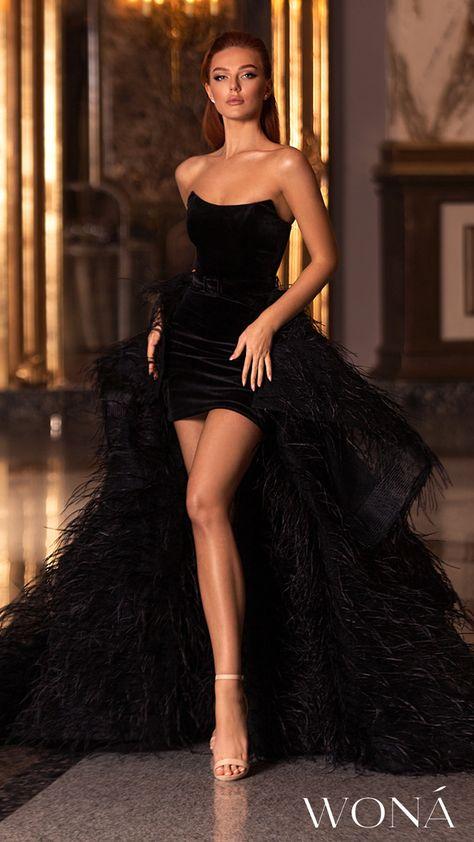 WONÁ Wedding Dresses and Evening Gowns 2020 - Belle The Magazine Woná 2020 evening gown - 20208 Classy Gowns, Dresses Elegant, Classy Dress, Pretty Dresses, Beautiful Dresses, Classy Casual, Simple Dresses, Casual Dresses, Unique Dresses Short