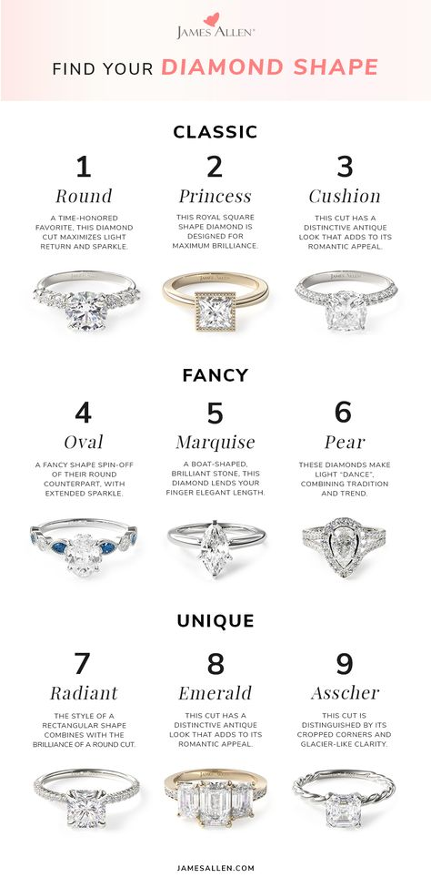 Certified Diamonds - All Viewable In 360° HD To design your own diamond engagement ring at James Allen, you need to select a diamond and a ring setting. We present every diamond in high definition 360° so you can know exactly what you are getting.