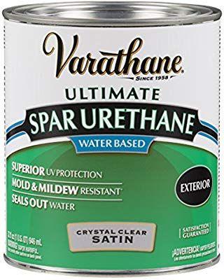 Rust Oleum Varathane 250241h 1 Quart Classic Clear Water Based Outdoor Spar Urethane Satin Finish Varathane Rustoleum White Wash Brick