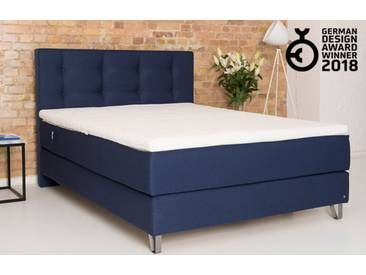Boxspringbett 180x200 In Blau Inkl 7 Zonen Matratze Bruno