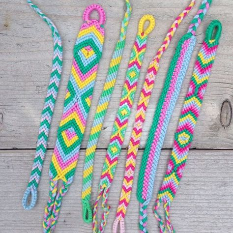 handknotted friendship bracelet tribal beach wear armcandy gift idea Three-Colour-Bracelet pulseras dmc waves cotton macram\u00e9