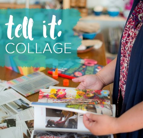 Come along for 21 days of collaging, journaling, and connection to help you tell your story.