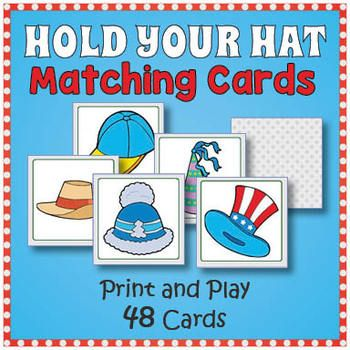 Hat Matching Memory Game Fun Hat Day Activity Memory Games
