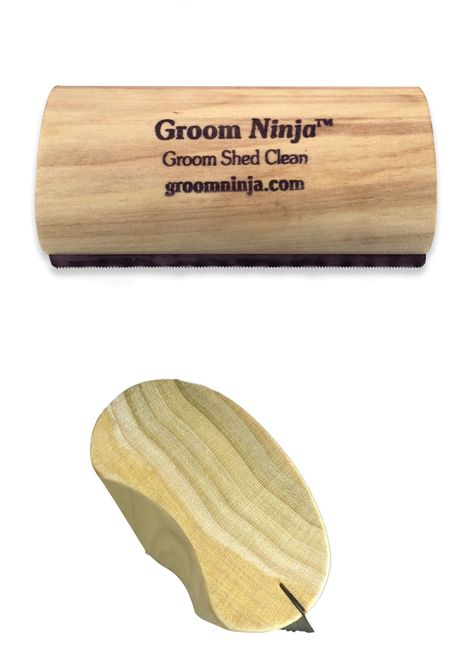Groom Ninja Pet Cat Dog Rabbit 5 Cleaning Grooming Shedding Wooden