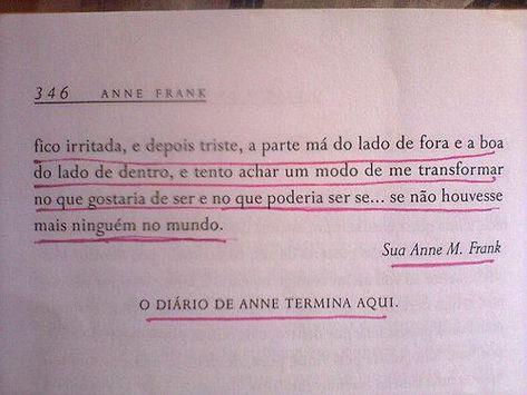 Resultado De Imagem Para Frases De Anne Frank Tumblr Artes E Outros