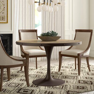 Greyleigh Amherst Pedestal Dining Table Size 27 5 L X 27 5 W