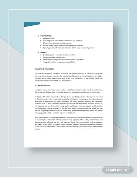 Instantly Download Restaurant Marketing Plan Template Sample Example In Microsoft Wor Restaurant Marketing Plan Marketing Plan Template Restaurant Marketing
