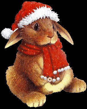 Christmas Animal Clipart Free Christmas Animals Graphics And Animated Gifs Christmas Animals Christmas Bunny Animated Christmas
