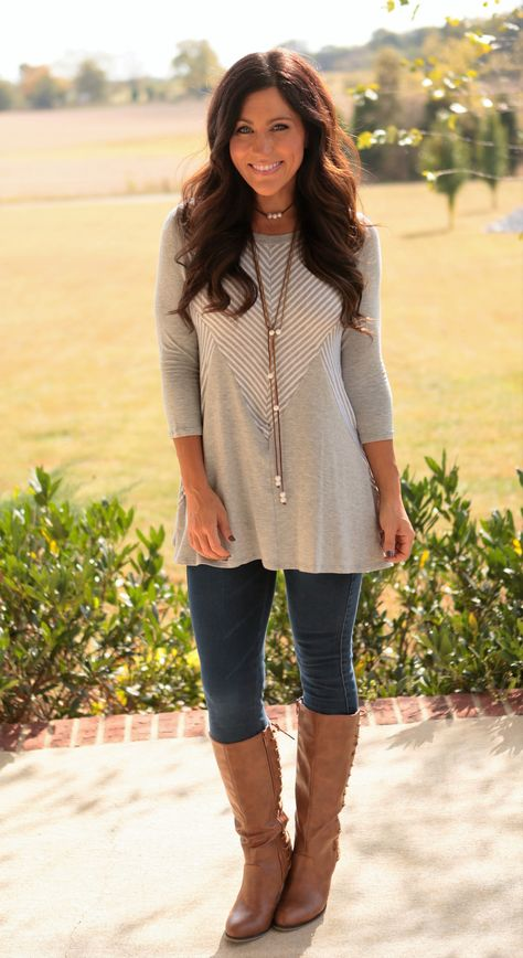 Subtle in Chevron Top Source by Fall outfits for pictures