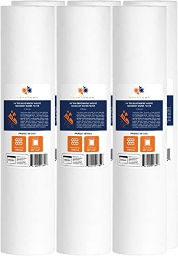 New Aquaboon 1 Micron 20 Big Blue Sediment Water Filter Replacement Cartridge Whole House Sediment Filtration Compatible Ap810 2 Sdc 45 2005 Fpmb Bb5 20 In 2020 Sediment Big Blue Water Filter