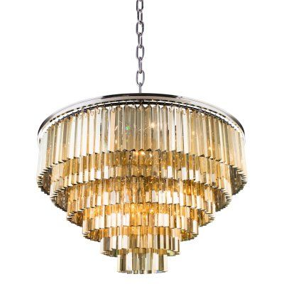 Urban Classic Sydney Collection 44 In Chandelier 1201d44mb Polished Nickel And Products