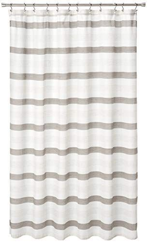 Duck River Beige And Ivory Taupe Akua Striped Farmhouse Shower Curtain In 2020 Farmhouse Shower Curtain Farmhouse Shower Fabric Shower Curtains