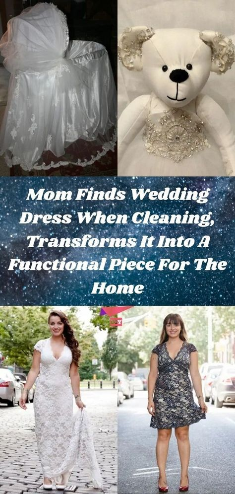 Mom Finds Wedding Dress When Cleaning, Transforms It Into A Functional Piece For The Home