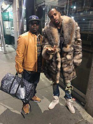 0ca978f33 Celebrity Safaree Samuels Wearing Crystal Fox Fur Coat | Fashion man ...