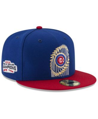 bdb66dfd6ce New Era Chicago Cubs World Series Trophy 59FIFTY Cap - Blue 7 5 8 ...