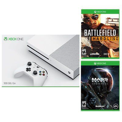 Xbox One S 500GB Console + Battlefield Hardline + Mass