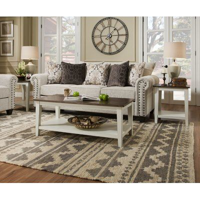 August Grove Colne 2 Piece Coffee Table Set Front Room