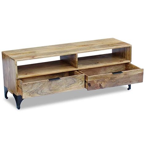 Tv Stand Solid Mango Wood Le
