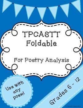 Tpcastt Foldable Poetry Poetry Ideas Tpcastt Teaching Poetry