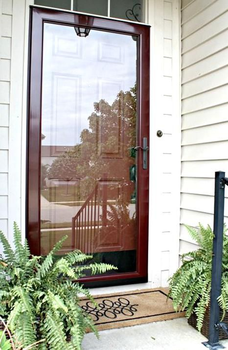 Glass Storm Doors Add A Lot More Light To Your Entry Read On Thriftydecorchick In 2020 Glass Storm Doors Glass Door Larson Storm Doors