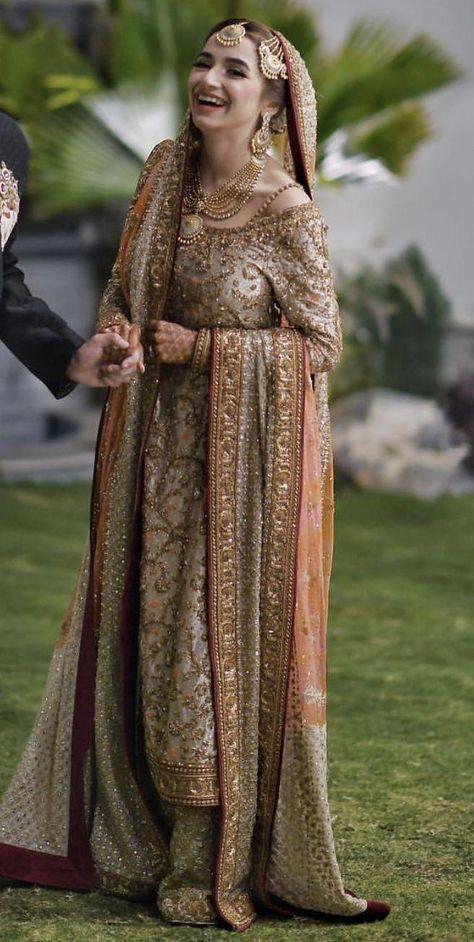 Valima bride wearing dr Haroon