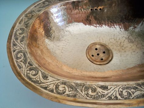 Détails sur Vasque cuivre ovale Marocaine évier lave main ...