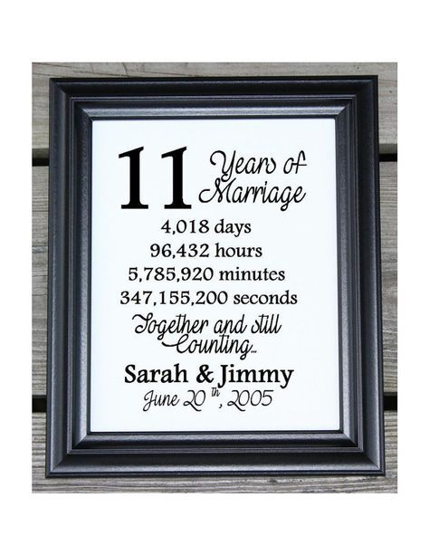 11th Wedding Anniversary Cotton Print 11th Wedding Gift 11 Etsy 11th Anniversary Gifts Wedding Anniversary Quotes 12th Wedding Anniversary