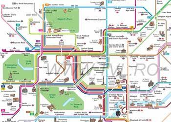 Harta Metrou Londra Hartă