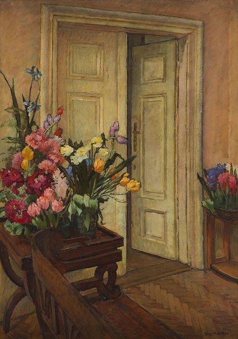 Sold Price Jozef Mehoffer 1869 1946 Interior Of Artist S House In Jankowka Artist House Artist Art